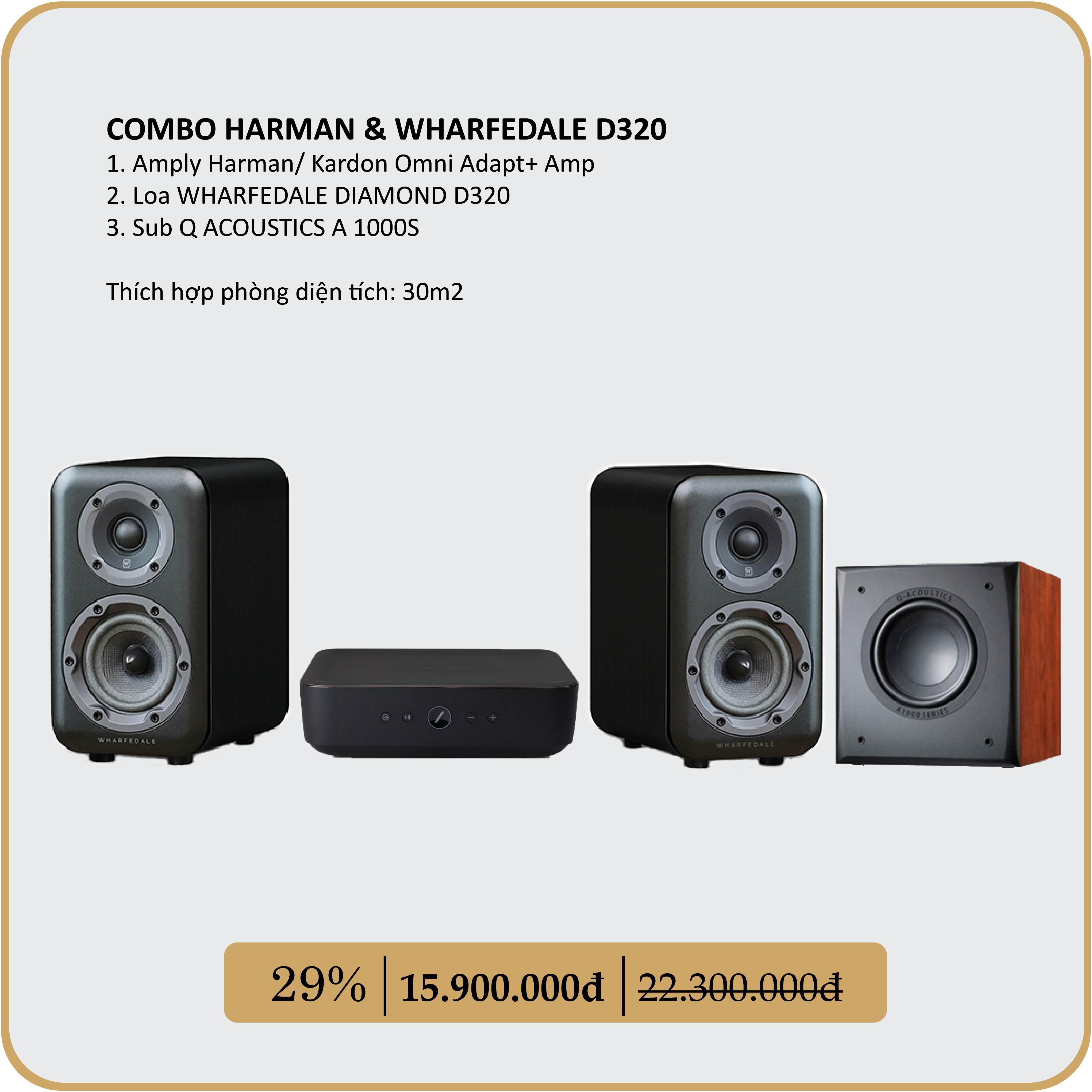COMBO HARMAN & WHARFEDALE D320